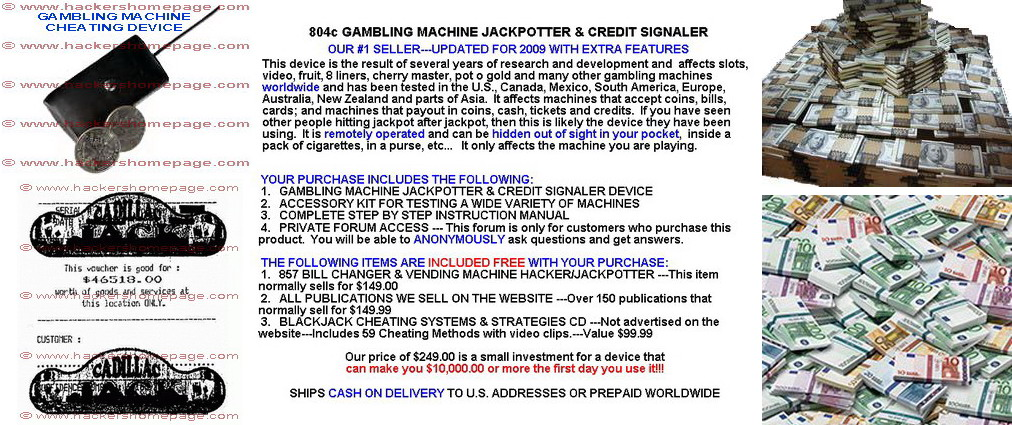 804c gambling machine jackpotter credit signaler works casino games online roulette