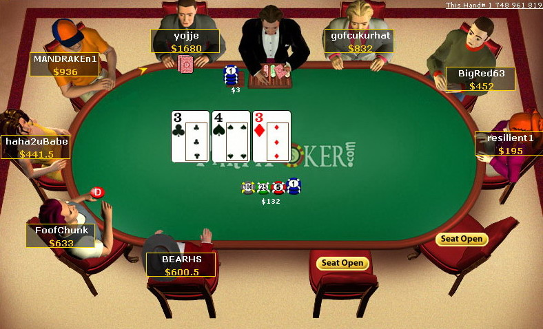 Poker table used